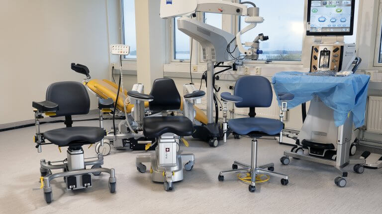 Medical products Opetating table and Surgeon chair